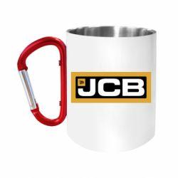 Кружка з ручкою-карабіном Jgb logo2