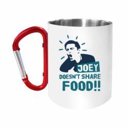 "Кружка с ручкой ""карабин"" Joey doesn't share food!"