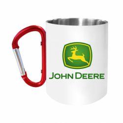 Кружка з ручкою-карабіном John Deere logo