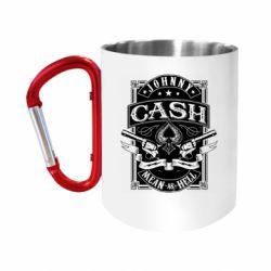 Кружка з ручкою-карабіном Johnny cash mean as hell