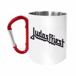 Кружка з ручкою-карабіном Judas Priest Logo