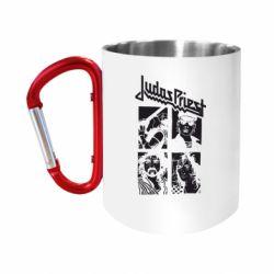 Кружка з ручкою-карабіном Judas Priest