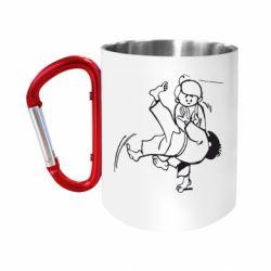 """Кружка с ручкой """"карабин"""" Judo Fighters"""