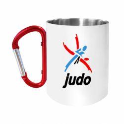 Кружка з ручкою-карабіном Judo Logo