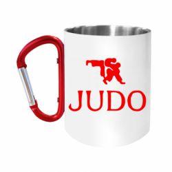 """Кружка с ручкой """"карабин"""" Judo"""