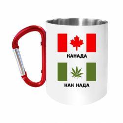 """Кружка с ручкой """"карабин"""" Канада Как надо"""