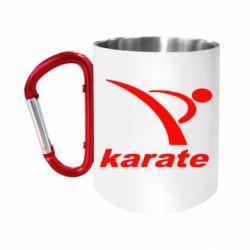 """Кружка с ручкой """"карабин"""" Karate"""