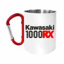 Кружка з ручкою-карабіном Kawasaki 1000RX