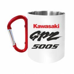Кружка з ручкою-карабіном Kawasaki GPZ500S