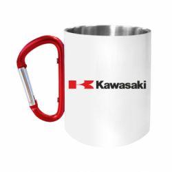 Кружка з ручкою-карабіном Kawasaki Logo