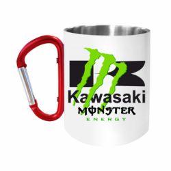 Кружка з ручкою-карабіном Kawasaki Monster Energy
