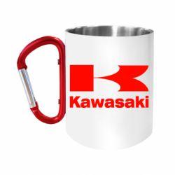 "Кружка с ручкой ""карабин"" Kawasaki"