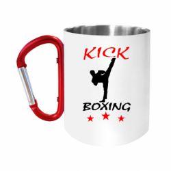 Кружка з ручкою-карабіном Kickboxing Fight