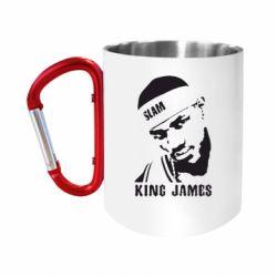 """Кружка с ручкой """"карабин"""" King James"""