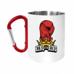 Кружка з ручкою-карабіном king of the Ring