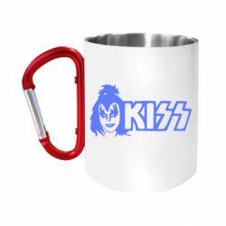 """Кружка с ручкой """"карабин"""" Kiss Album"""