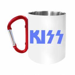 "Кружка с ручкой ""карабин"" Kiss Logo"