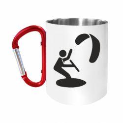 """Кружка с ручкой """"карабин"""" Kite Logo"""
