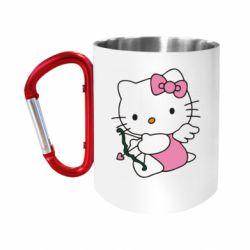 Кружка з ручкою-карабіном Kitty амурчик