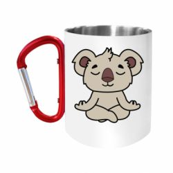 "Кружка с ручкой ""карабин"" Koala"