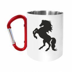 Кружка з ручкою-карабіном Кінь