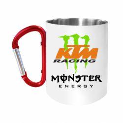 "Кружка с ручкой ""карабин"" KTM Monster Enegry"