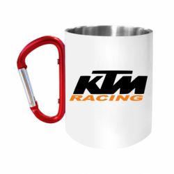 """Кружка с ручкой """"карабин"""" KTM Racing"""