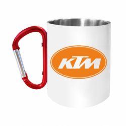 Кружка з ручкою-карабіном KTM
