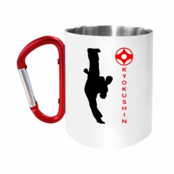 "Кружка с ручкой ""карабин"" Kyokushin Kick"