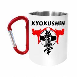 """Кружка с ручкой """"карабин"""" Kyokushin"""