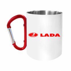 """Кружка с ручкой """"карабин"""" Lada"""