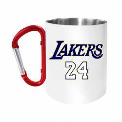 """Кружка с ручкой """"карабин"""" Lakers 24"""