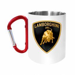 Кружка з ручкою-карабіном Lamborghini Logo