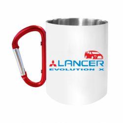 """Кружка с ручкой """"карабин"""" Lancer Evolution X"""