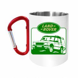 Кружка з ручкою-карабіном Land Rover