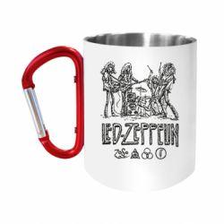 "Кружка с ручкой ""карабин"" Led-Zeppelin Art"