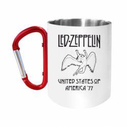 """Кружка с ручкой """"карабин"""" Led Zeppelin United States of America 77"""