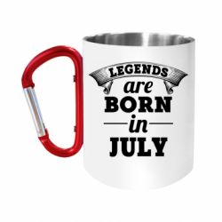 """Кружка с ручкой """"карабин"""" Legends are born in July"""