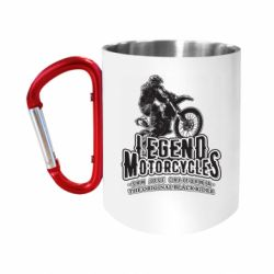 Кружка з ручкою-карабіном Legends motorcycle