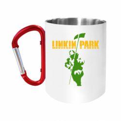 """Кружка с ручкой """"карабин"""" Linkin Park Album"""