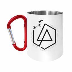 Кружка з ручкою-карабіном Linkin park Until It's Gone