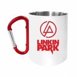 Кружка з ручкою-карабіном Linkin Park