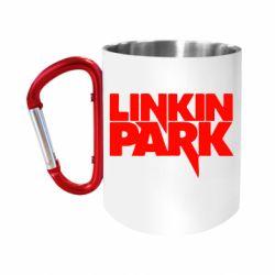 Кружка з ручкою-карабіном Лінкін Парк
