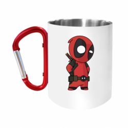 Кружка з ручкою-карабіном Little Deadpool