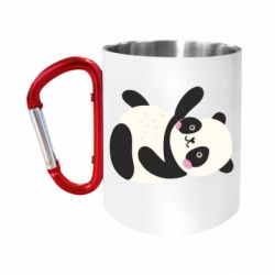 "Кружка с ручкой ""карабин"" Little panda"