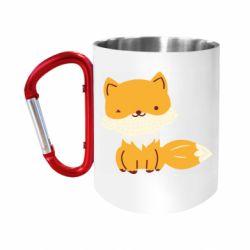 "Кружка с ручкой ""карабин"" Little red fox"