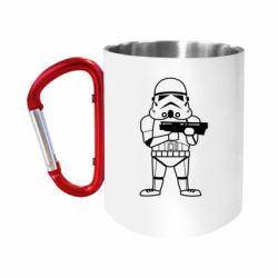 Кружка з ручкою-карабіном Little Stormtrooper