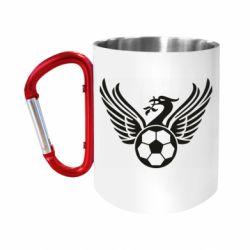 Кружка з ручкою-карабіном Liverpool and soccer ball