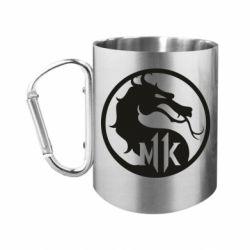 """Кружка с ручкой """"карабин"""" Logo Mortal Kombat 11"""