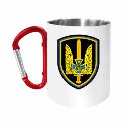 "Кружка с ручкой ""карабин"" Логотип Азов"